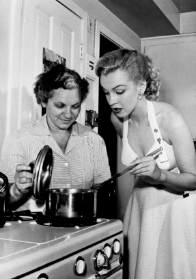 Marilyn in the kitchen